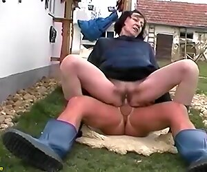 ugly 80 years old granny outdoor fucked