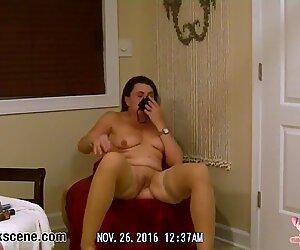 Brunette MILF sticks dildos in her butthole