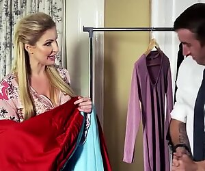 Tailor measures the cunt of this hot blondie