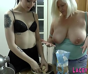 Lesbian grandma tongues