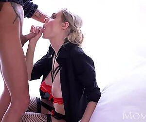 MOM Sexy big tits blonde MILF Florane Russel sex in lingerie