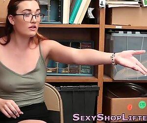 Amateur thief gets cum