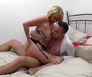 Mature British mother seduce young lover