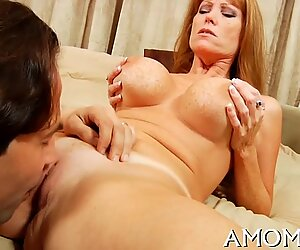 Lovely mom in a thrilling action