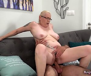 Granny with big tits enjoys hardcore sex