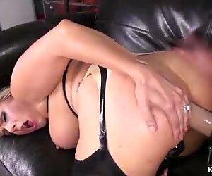 Busty Milf wrestler anal fucks lesbian