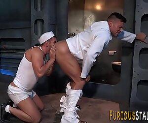 Ass rimming brawny sailor
