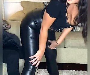 Hot leather leggings girls!!