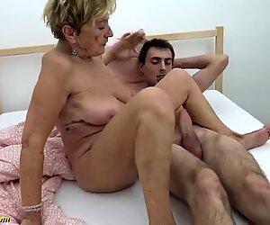 90 years elder grandmother gets raunchy fucked