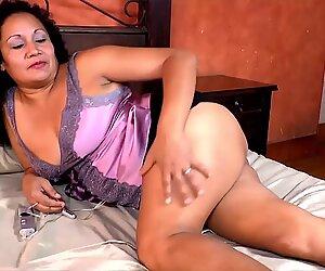 LatinChili Hot Busty Grandma Solos Compilation