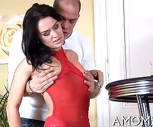 mom acquires pussy willing for poke