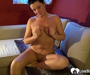 Sexy babe gets naked and masturbates sensually