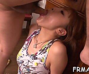 Explicit and wild Asian blowjob