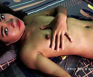 Asian Teen - Tight Pussy get a Hard Fuck from a Big Dick - Hardcore Bareback Sex