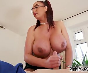 Japan mature mom and taboo first time Big Tit Step-Mom Gets a Massage - Emma Butt