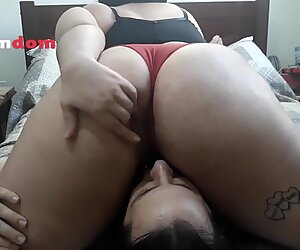 Cuckold Training 3 - Riding a Face Dildo and Smothering him