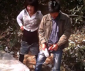 Asian Prostitute Quickie Outdoors