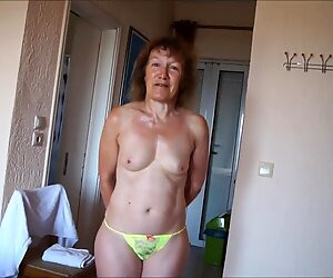 Dayglo yellow thong 03