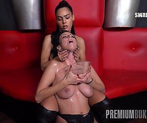 Premium Bukkake - Sherry Vine swallows 71 huge mouthful cum loads