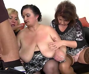 Busty matures suck and fuck toy boys