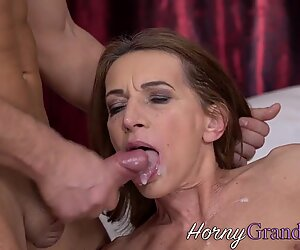 Cock riding old cougar
