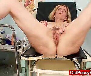 Unshaved twat mother Tamara embarrassing doctor exam