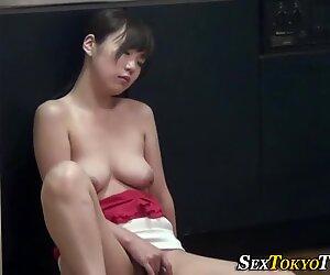 Pretty asian babe rubs