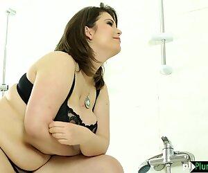 Curvy BBW beauty fucked in the bathroom