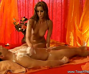 Golden Lover Massages Him