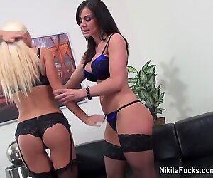 Nikita Von James drills A warm dark haired MILF